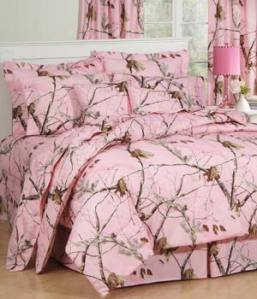ap realtree pink camouflage bedding set with curtains and pillow cases