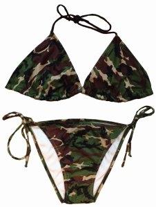 Southern Sisters Army Camo Bikini
