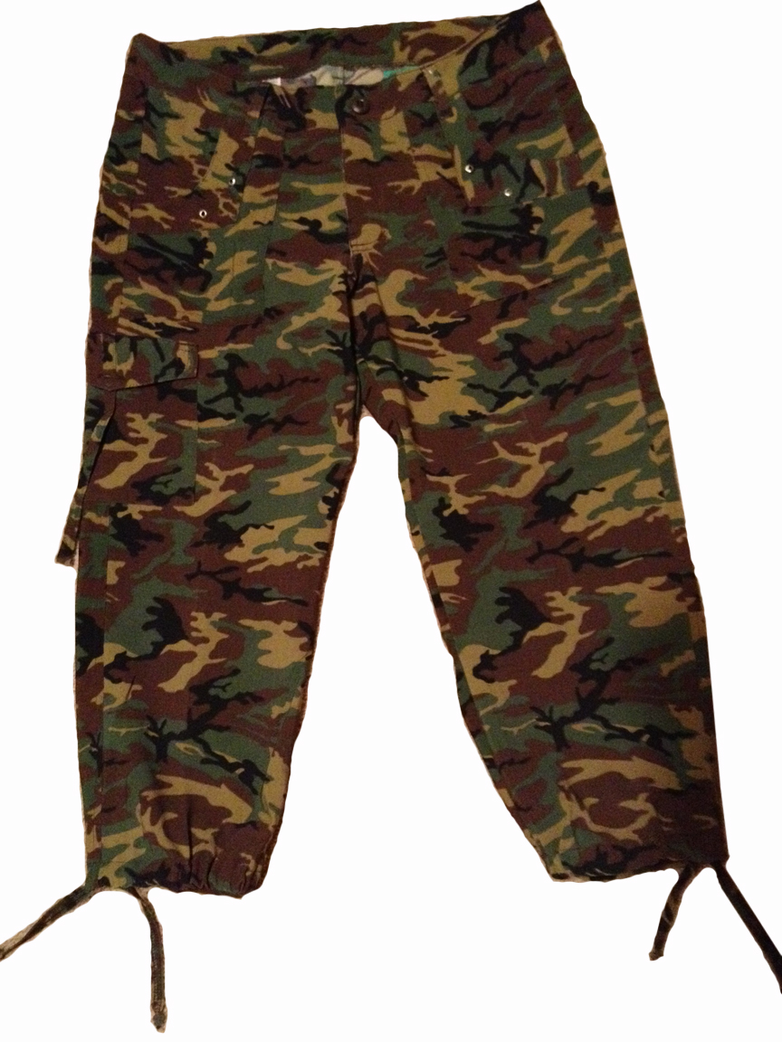 Original Women Clothing Casual Cargo Pants Straight Pants Female Camouflage