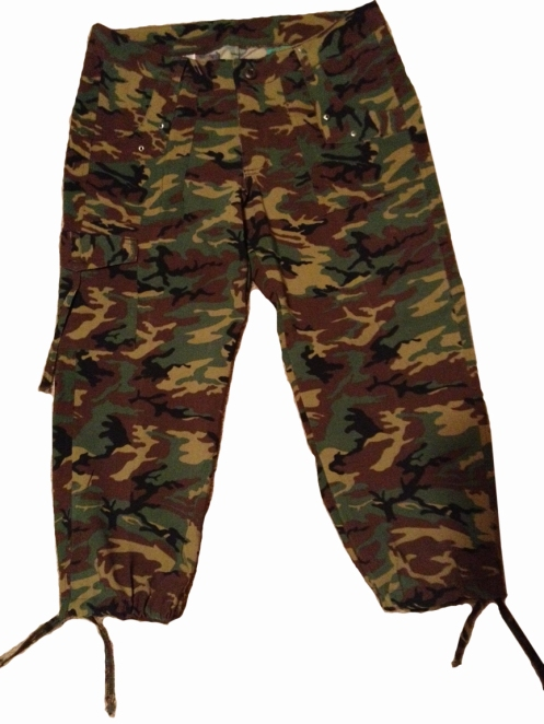 Stretch Camouflage Capri Pants For women