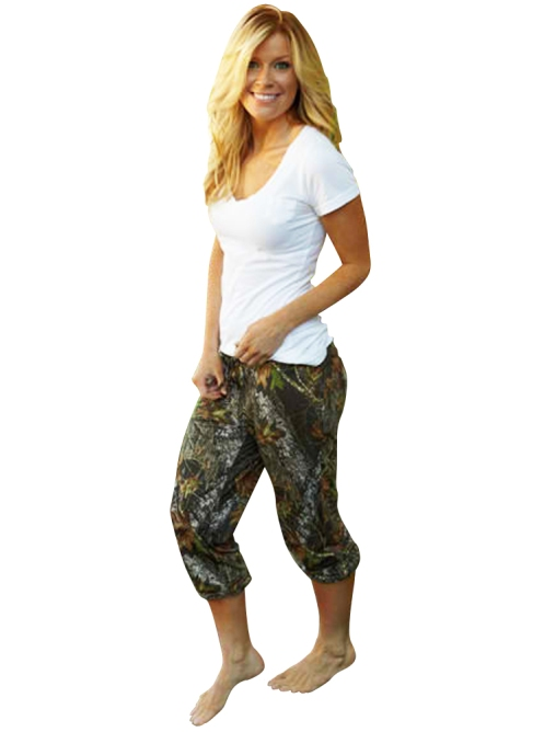 Soft and Comfy Camo Capri Pants