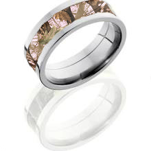Pink Camo Wedding Ring For Women
