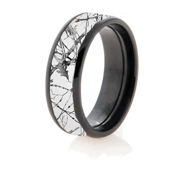 pinkcamocz pinkcamowithblack whiteforestblackring - White Camo Wedding Rings
