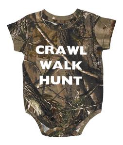 Crawl Walk Hunt Baby Camo Onesie By realtree