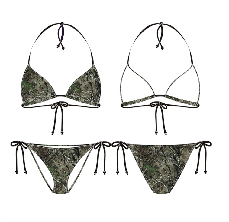 Purple String Camouflage Bikini One Of A Kind Instant